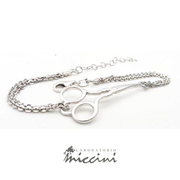 Bracciale forbici in argento