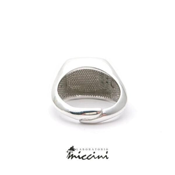 anello con sigillo personalizzabile in argento 925