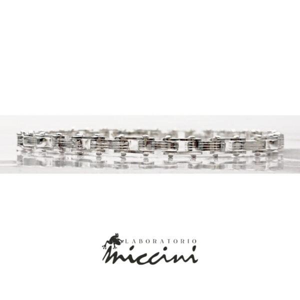 bracciale in argento per appassionati di ciclismo