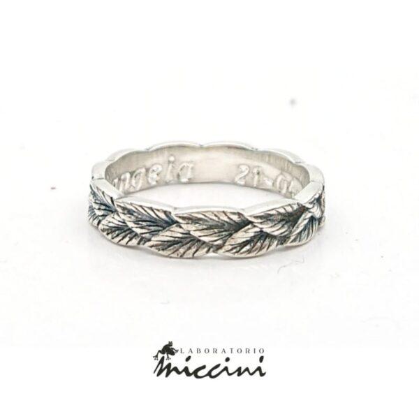 Anello Laurea in argento
