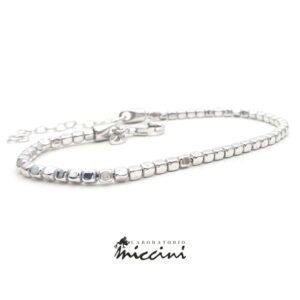 Bracciale cubetti in argento