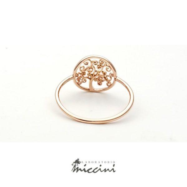 anello albero della vita oro rosa