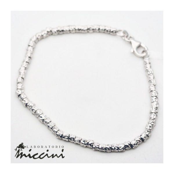 Bracciale pepite in argento