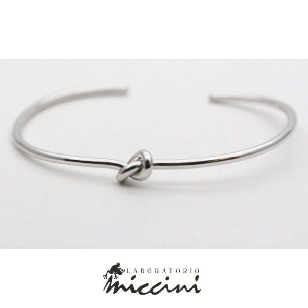 bracciale nodo in argento