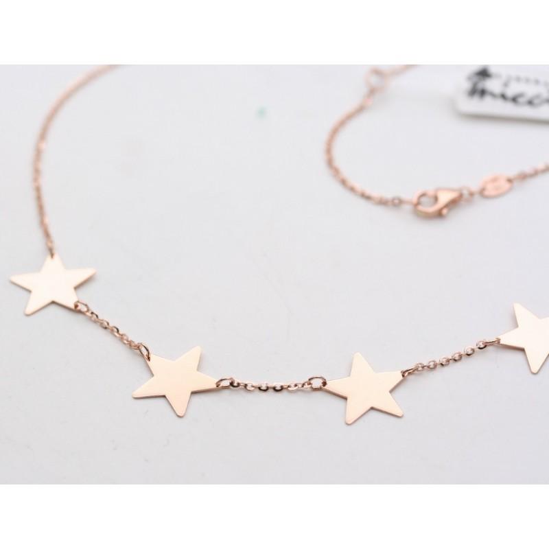prezzo competitivo ebc96 cc352 Collana con stelle in oro rosa