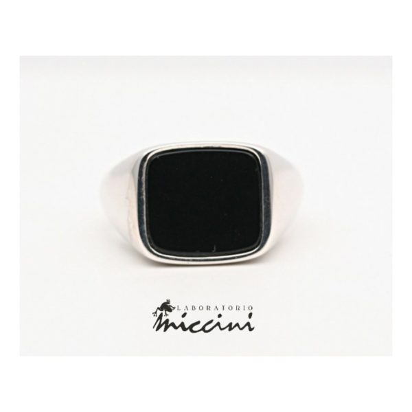 Anello in argento con onice