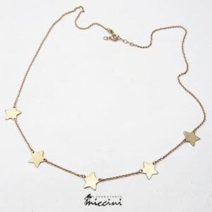 collana con stelline in oro rosa