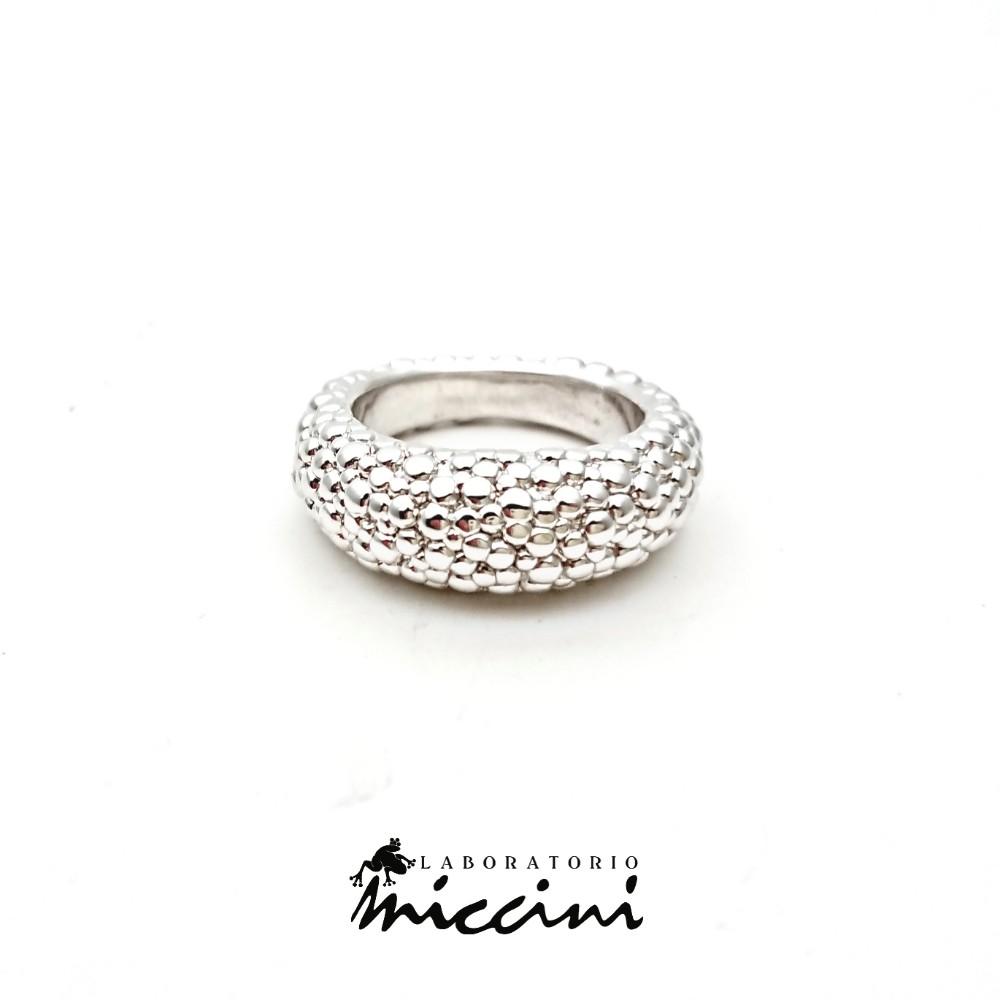 anello argento fascia