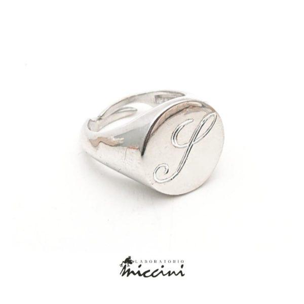 anello chevalier da mignolo con iniziale S incisa