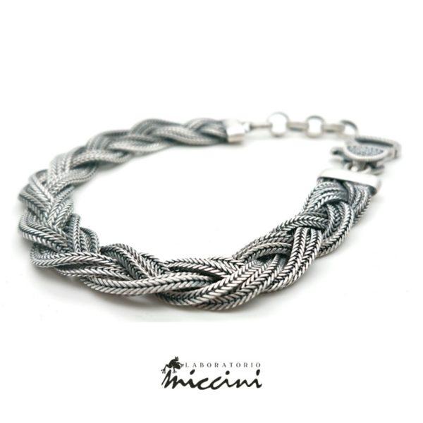 Bracciale treccia in argento