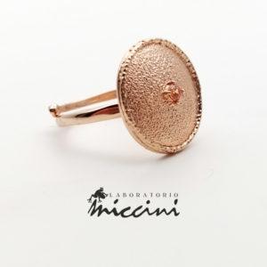 anello in argento rosato