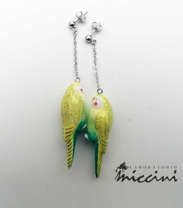 orecchini pappagalli gialli