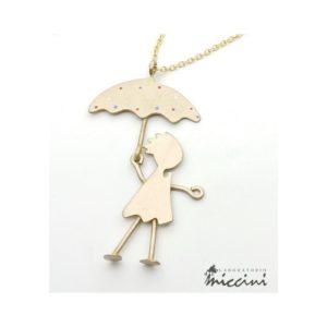 Collana bambina con ombrello