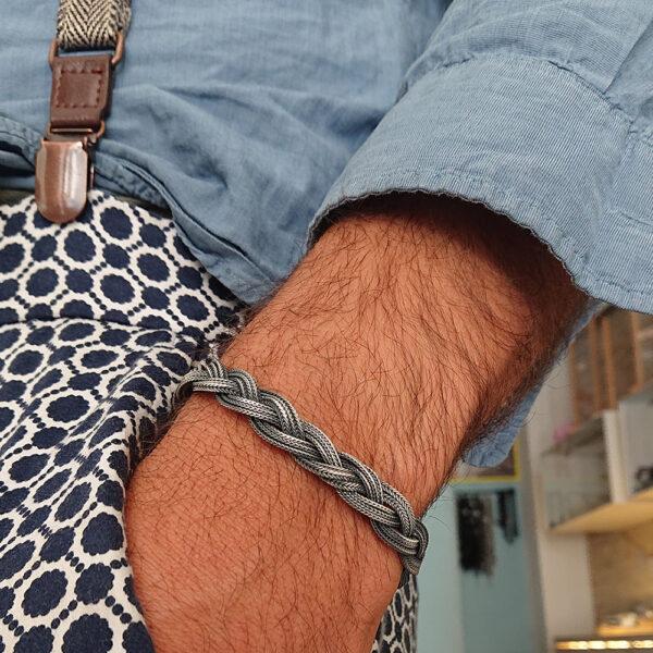 bracciale a treccia misura medium