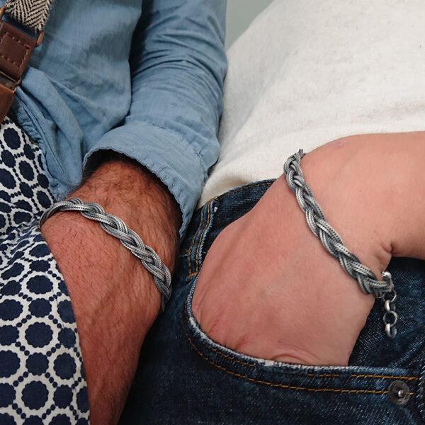 bracciali a treccia uomo/donna