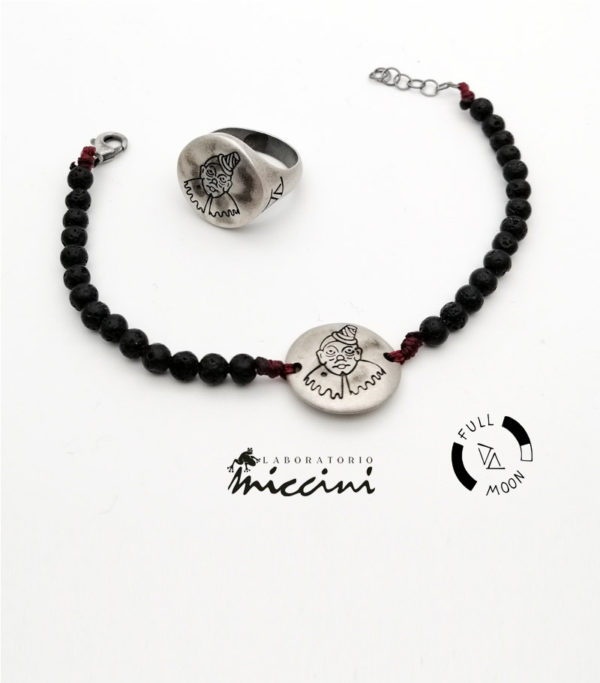 anello e bracciale clown foolmoon