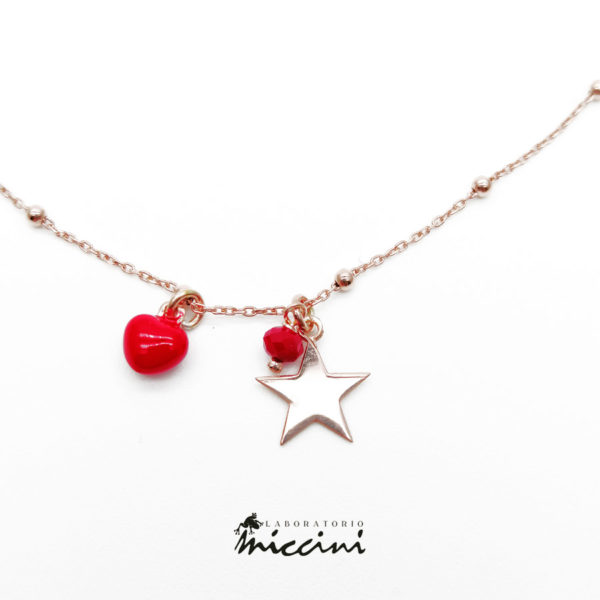 collana stella e cuore