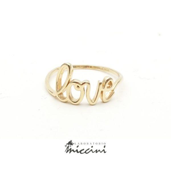 Anello Love in oro giallo