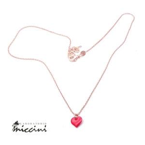 collana cuore rosso