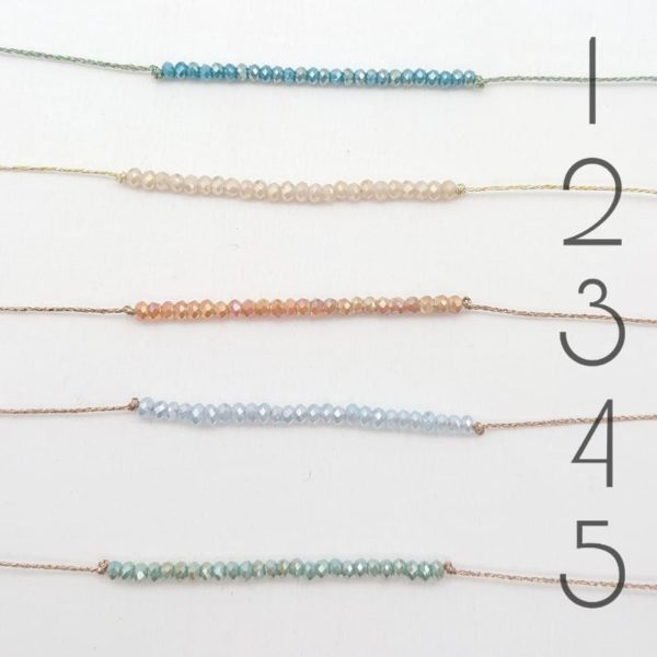 Bracciale filo Lurex e Cristalli