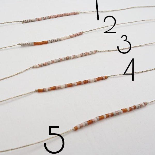 Bracciale filo Lurex e perline Miyuky