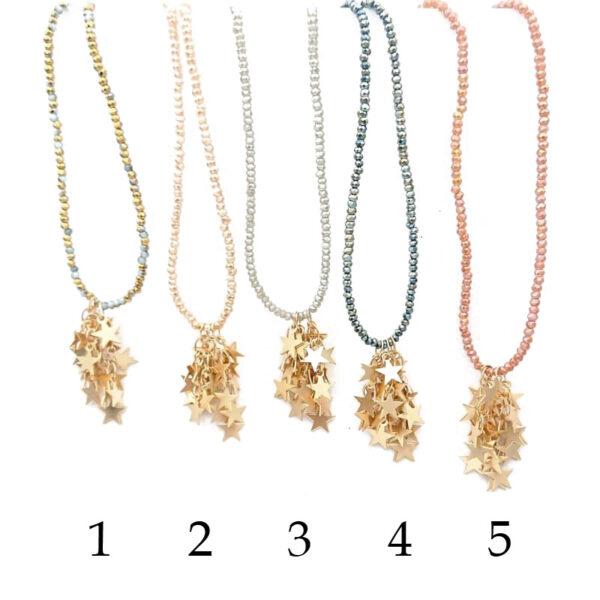 colori disponibili delle collane con stelle