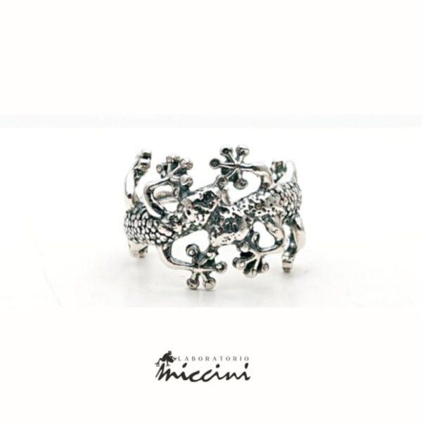 Anello Gechi in argento