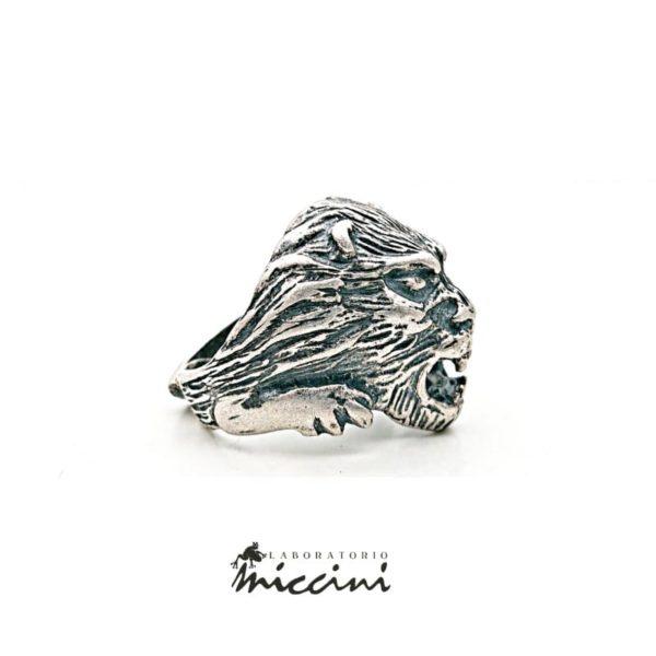 Anello Leone in argento