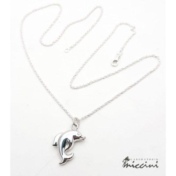 Collana con delfino in argento
