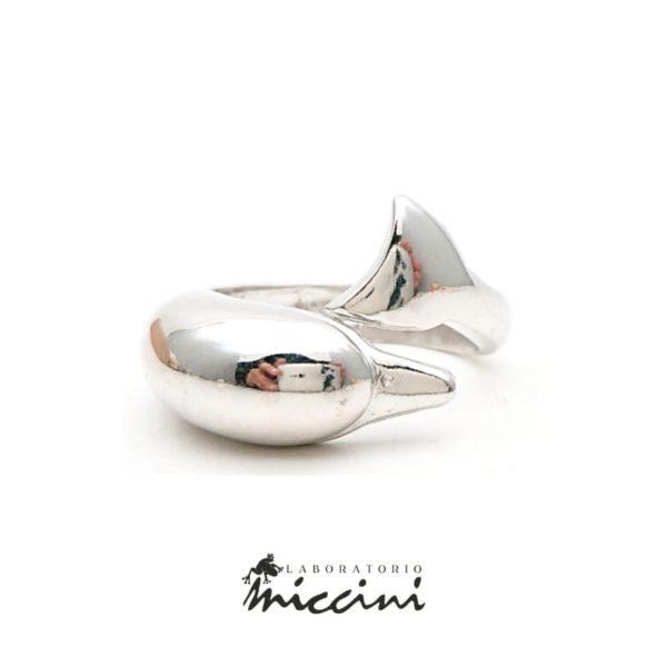 Anello delfino da uomo in argento