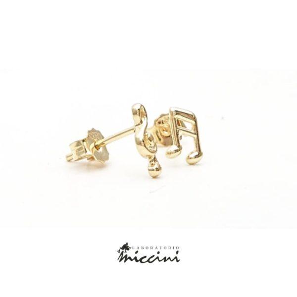 Orecchini Nota Musicale E Chiave Di Violino in oro giallo