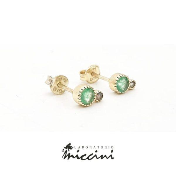 Orecchini minimal con pietre naturali