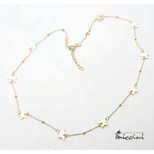 Collana stelle in argento dorato
