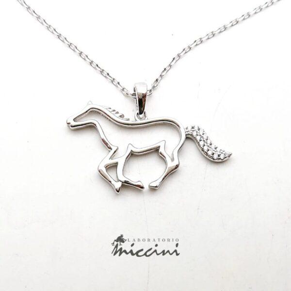 Collana con cavallo in argento