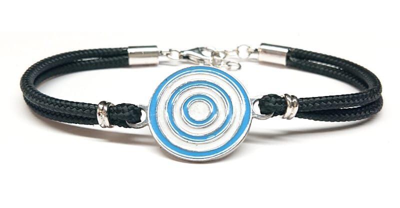 Bracciale con cerchi colorati in argento