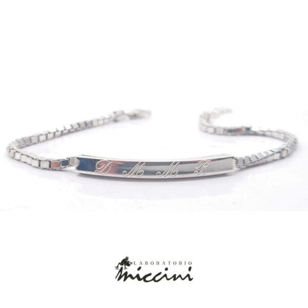 Bracciale in argento personalizzabile da uomo
