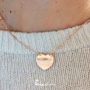 collana-ciondolo-cuore-personalizzabile con incisione del nome Giulia