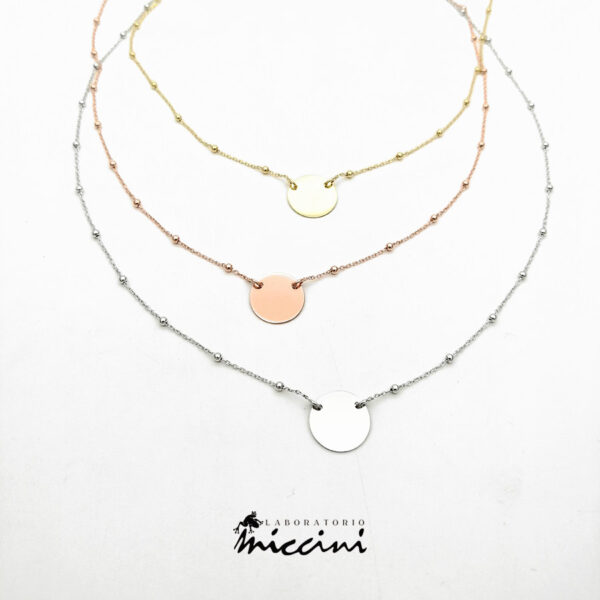 collana girocollo in argento con ciondolo personalizzabile
