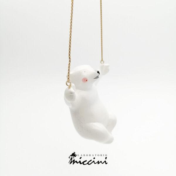 collana in ceramica con orso 3d