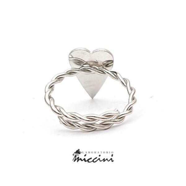 Anello Con Cuore allungato in argento