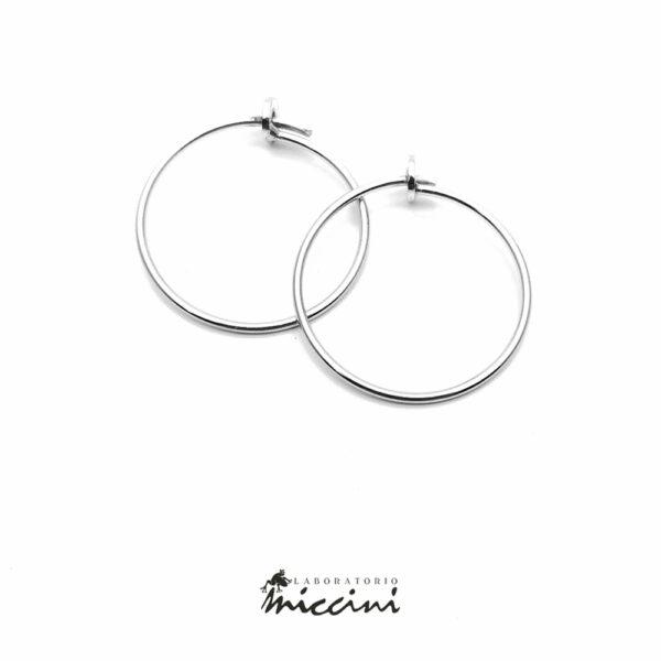 orecchino a cerchio in argento 925