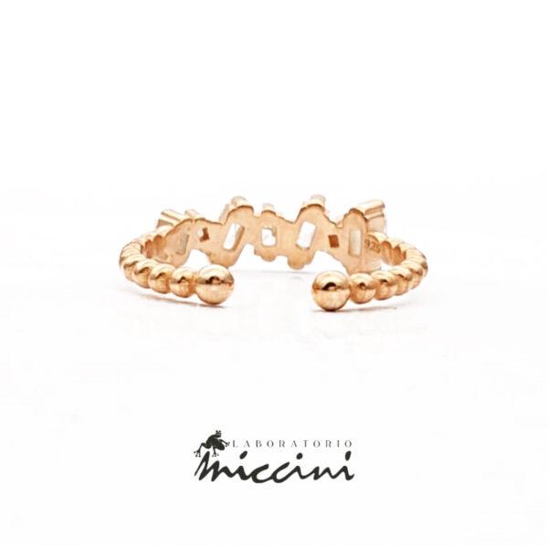 anello in argento con zirconi taglio baguette