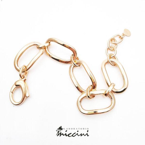 bracciale da donna a catena in argento dorato
