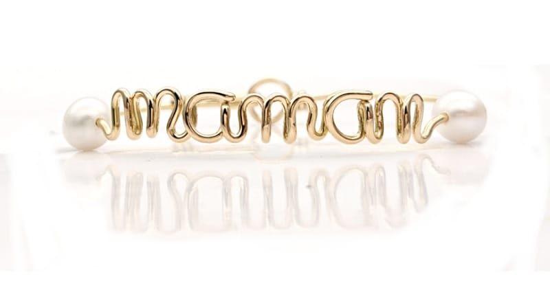 Bracciale in filo d'oro e perle