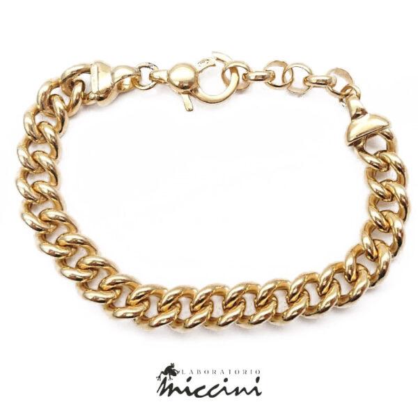 bracciale grumetta in argento dorato