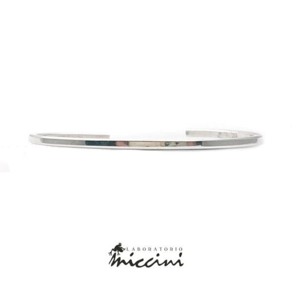 bracciale personalizzabile in argento a filo pieno