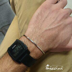bracciale rigido sottile in argento 925
