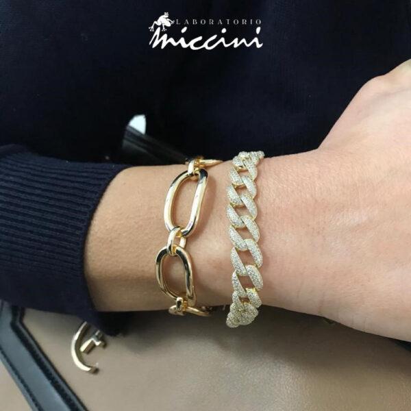 bracciali a catena in argento dorato