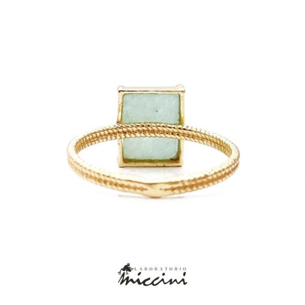 anello con amazzonite rettangolare
