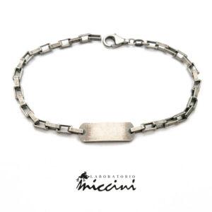 bracciale a catena con piastrina personalizzabile